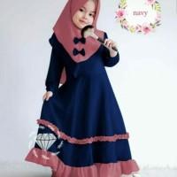 Baju Maxy Muslim Gamis Anak Perempuan Cantik Princess 4- 5 Tahun
