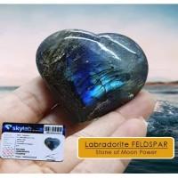 Batu Labradorite FELDSPAR Stone of Moon Power Premium (BC05)