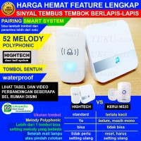 bel rumah pintu wireless HIGHTECH sinyal super kuat