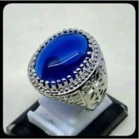 ASLI Cincin batu biru king safir sapphire saphire