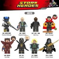 8PC lego kw Marvel The Avengers IRON MAN/BLACK WIDOW/DOCTOR STRANGE