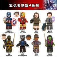 8PC lego kw Marvel The Avengers IRON MAN/BLACK PANTHER/CAPTAIN AMERICA