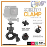 Clamp Bike Mount V2 Tripod Adapter Sepeda Handlebar for Action Cam