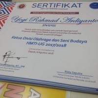 sertifikat / piagam / piagam penghargaan / seminar, dll