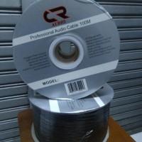 Kabel Speaker CR AUDIO 100 M warna hitam & putih