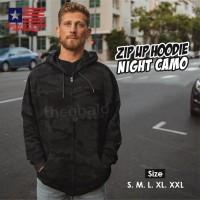 New States Apparel 9600 JAKET ZIP Hoodie NIGHT CAMO Size, S M L XL XXL