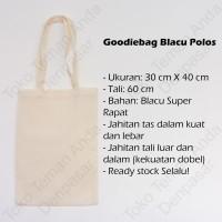 Tas Tote Bag Blacu Polos (Totebag / Goodie Bag) Belanja Wanita