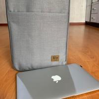 Tas Laptop Nylon Sleeve Case For MacBook 14inch - Abu abu