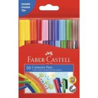 Connector Pen Faber Castell 10 Warna