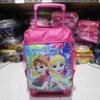 Tas Anak Dorong Kecil Motif Frozen Pink Lucu Ransel Anak Cewek Trendy