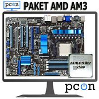 Paket Motherboard AM3 ATX dengan Athlon II X2 2500 + vga card