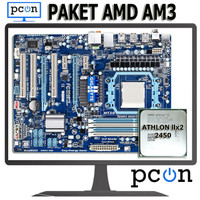 Paket Motherboard AM3 ATX dengan Athlon II X2 2450 + vga card