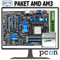Paket Motherboard AM3 ATX dengan Athlon II X2 2450 + vga card+ RAM