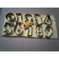 Cetakan Kue Angka (Nomor) / Ring Cutter Set Kue Kecil Stainles