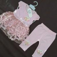 Baju Bayi Anak Perempuan Setelan Manik Manik Impor