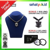 PROMO BUY 1 GET 1 Kalung Gelang kesehatan Ginsamyong Titanium Series