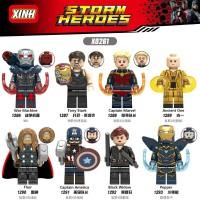 8PC lego kw Marvel The Avengers Captain Marvel/IRON MAN/BLACK WIDOW