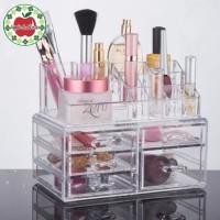 Rak kosmetik Akrilik Laci Tempat Make up Akrilik Storage Box Acrylic