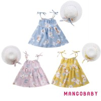 ( Hot Deals ) Mg summer Set 2Pcs Dress Princess Bayi Perempuan Tanpa