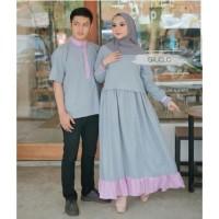 Basic Couple Baju Couple Muslim Dapat Kemeja dan Dress