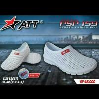 Sepatu Karet Santai Pria dan Wanita Warna Putih ATT PSO 159