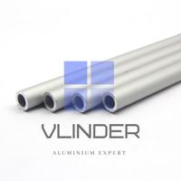 Pipa Aluminium OD 12 mm x ID 8 mm, t. 2 mm
