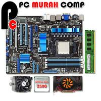 Paket Motherboard AM3 ATX dengan Athlon II X2 2500 + vga card dan RAM
