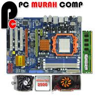 Paket Motherboard campur AM3 ATX dengan Athlon II X2 2500 + vga card