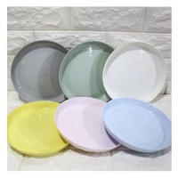 piring plastik makan anak berkualitas diameter 19cm 6 pcs