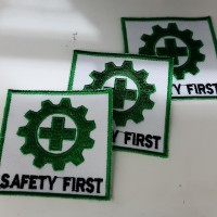 BEDGE BET SAFETY FIRST / LOGO / ATRIBUT / EMBLEM / PATCH / PATCHES / B