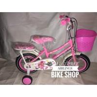 Sepeda Anak Perempuan Evergreen 12 Inch Mini