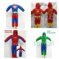 Terlaris Baju Kostum Busa Anak Spiderman, Batman, Hulk, Ultraman Hero