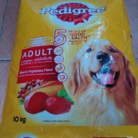 MAKANAN ANJING PEDIGREE BEEF VEGETABLE 10KG ( KHUSUS GOSEND & GRAB )