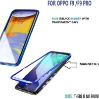 Premium Magnet Case 2 in 1 MAGNETIC GLASS OPPO F9 / F9 pro