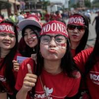 stiker wajah bendera merah putih / bendera indonesia stiker muka