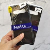 Samsung Galaxy S10 SLIM BLACK MATTE CASE SOFTCASE Blackmatte case