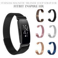 Stainless Magnetic Milanese Loop Strap Band for FITBIT INSPIRE HR
