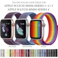 Velcro Nylon Loop Strap Band for APPLE WATCH 38MM 40MM SERIES 1 2 3 4