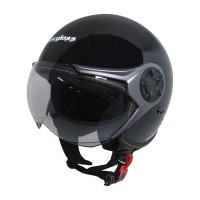 Cargloss YRM Micrometric Buckle Helm Half Face - Deep Black