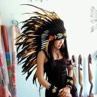 warbonnet/topi indian bulu ayam,topi carnaval topi pesta