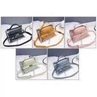 TAS GOYAYE TRANSPARAN PVC IMPORT HAND BAG MURAH WANITA SELEMPANG SLING