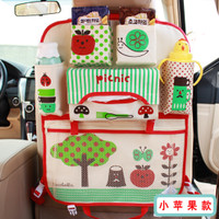Car Seat Organizer Tas Belakang Jok Mobil Multifungsi Character - Red Strawberry