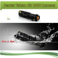 Pocketman Senter mini LED 2000 Lumens Tahan Air