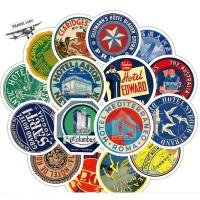 Sticker Stiker koper 55 Pcs : Retro Hotel Collection IV Travel Rimowa