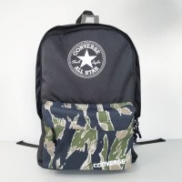 CONVERSE BACKPACK CAMO GREEN BLUE / RANSEL BACKPACK / TAS CONVERSE