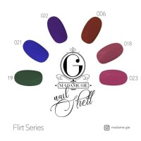 Madame Gie Nail Shell Peel Off - Flirt Series [ isi 6 pc ] BPOM