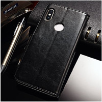 Xiaomi Redmi S2 Flip Wallet Dompet Kulit Leather Cover Case Card Kartu