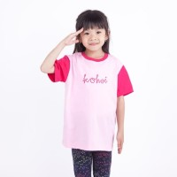 Kaos Anak Perempuan Kohai By Wakai Kids Bubble Text Tee Pink