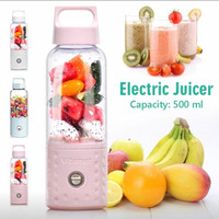 VITAMER BLENDER PORTABLE PREMIUM 500ML Blender Juice mini USB 4 mata