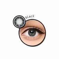 Zuhra Black normal minus s/d -3.00 hitam 14.5 mm - Exoticon Softlens
